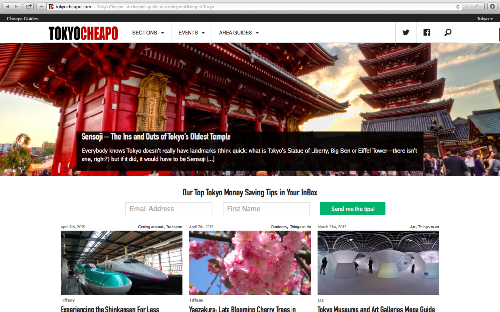 tokyo cheapo home page